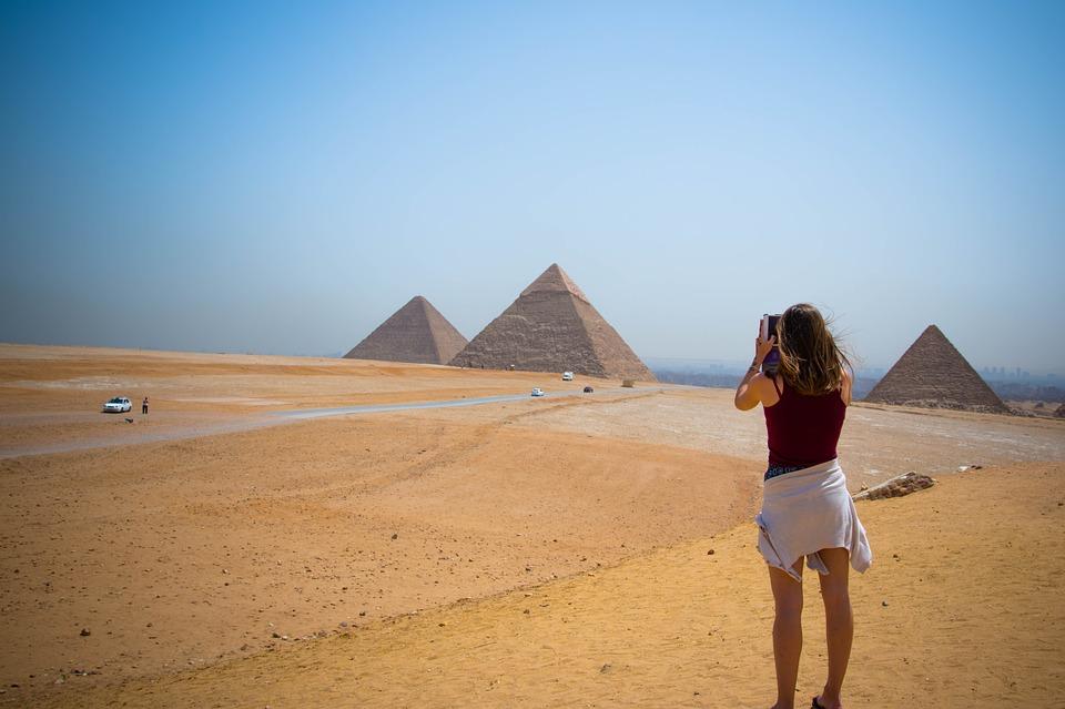 Giza Desert Pyramids