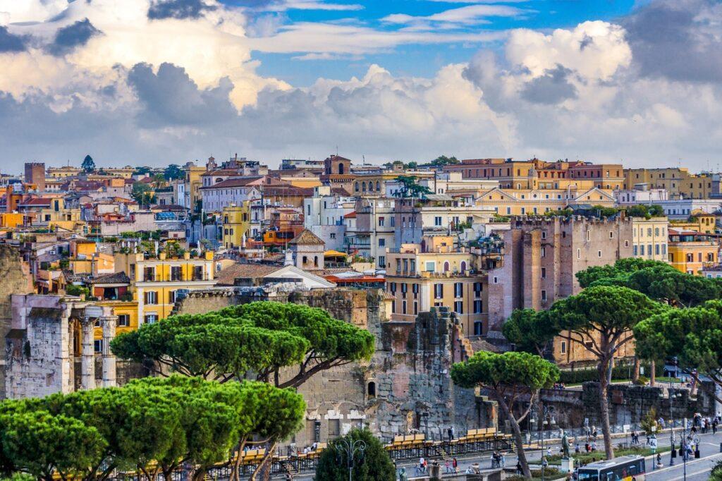 Rome - city houses